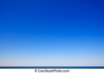 hermoso, vista marina, cielo azul