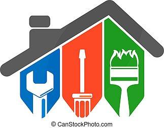 herramienta, reparación, hogar