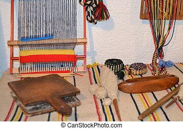 Herramientas antiguas para artesano