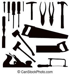 herramientas, carpintería