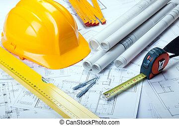 Herramientas de arquitectura en planos