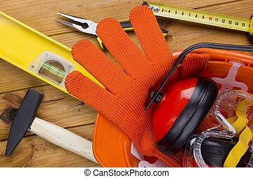 Herramientas de construcción y materiales