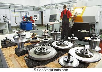 Herramientas industriales en el taller