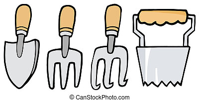 herramientas, jardinería