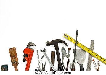 herramientas, viejo