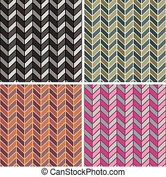 herringbone, 4, patrón, colorways