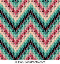 herringbone, patrón, pink-green