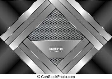 hexágono, metal, plano de fondo, pattern.