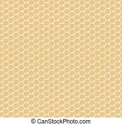 Hexágonos de panal amarillo vector sin costura