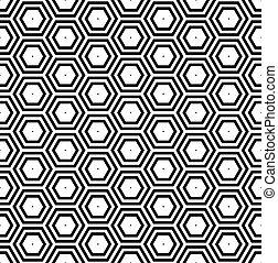 hexágonos, pattern., panal, seamless, geométrico