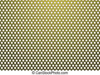 Hexagon metal dorado blanco