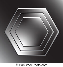 Hexagon metal fondo