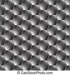 Hexagon metal fondo con ligero reflejo
