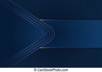 hexagon., metal, plano de fondo, azul