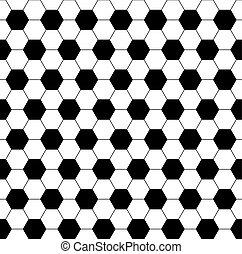 Hexagon negro y blanco sin costura.