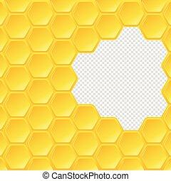 Hexagon panal en fondo transparente