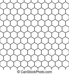 Hexagon sin estructura de fondo