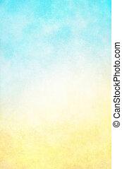 Hi-key amarillo fondo azul