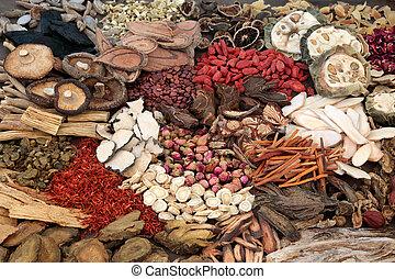 Hierbas chinas tradicionales