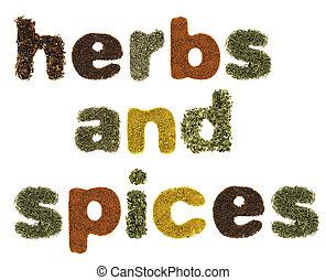 hierbas, especias, palabras