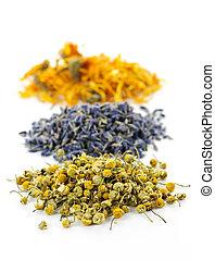 Hierbas medicinales secas