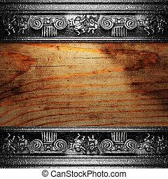 hierro, madera, ornamento