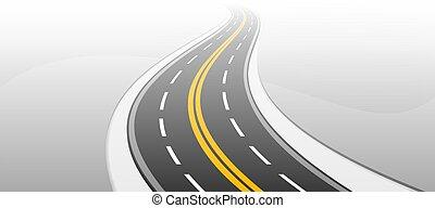 highway., illustration., vector