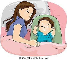 hija, mamá, sueño