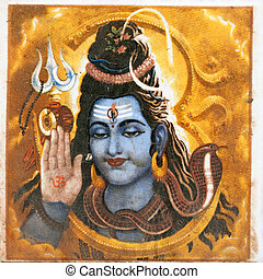 hindú, deidad, shiva