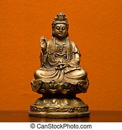 hindú, statue.
