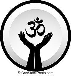 hinduismo, símbolo, faith-