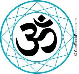 hinduismo, símbolo, religioso