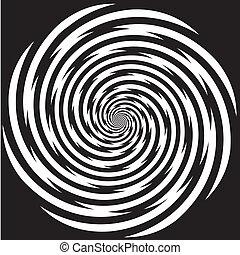 hipnosis, diseño, espiral la configuración