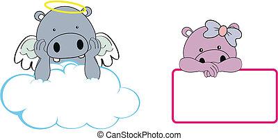 Hipopótamo de ángel imitar a Clo
