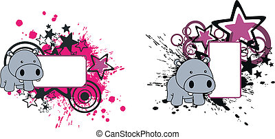 Hipopótamo de caricaturas