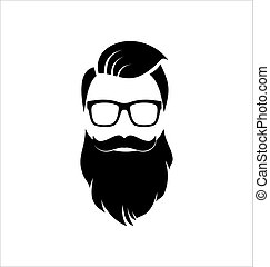 Hipster. Blanco y negro.