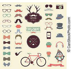 Hipster retro icono vintage