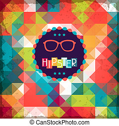 hipster, style., plano de fondo, retro