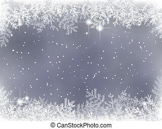 Historia de invierno con decoración navideña