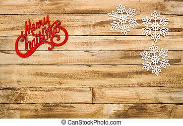 Historial de madera natural con decoración navideña