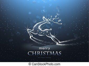 Historial de Navidad con ciervos estrellados