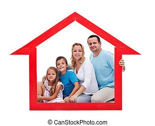 hogar, concepto, familia