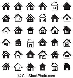 hogar, iconos