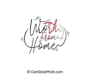 hogar, plano de fondo, trabajo, vector, blanco, letras, texto, ilustración