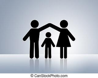 hogar, seguro, protección, niño