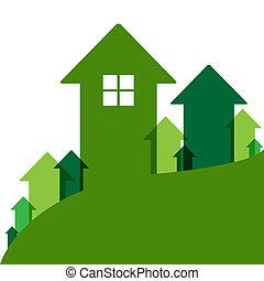 hogar, verde, valor