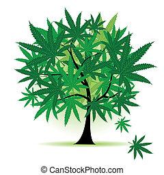 hoja, arte, árbol, fantasía, cannabis
