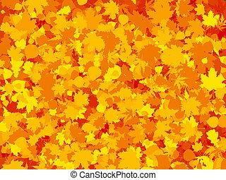hoja, colorido, eps, otoño, fondo., tibio, 8