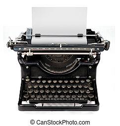 hoja en blanco, máquina de escribir