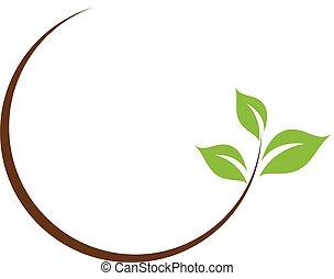 hoja, logotipo, orgánico